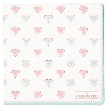 Penny white napkin small