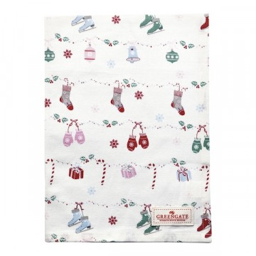 Tea towel jingle bells